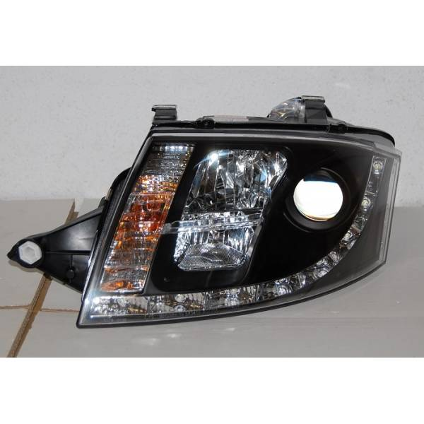 DAYLIGHT HEADLIGHTS AUDI TT 99-05 BLACK REAL 10PINS H7-H1