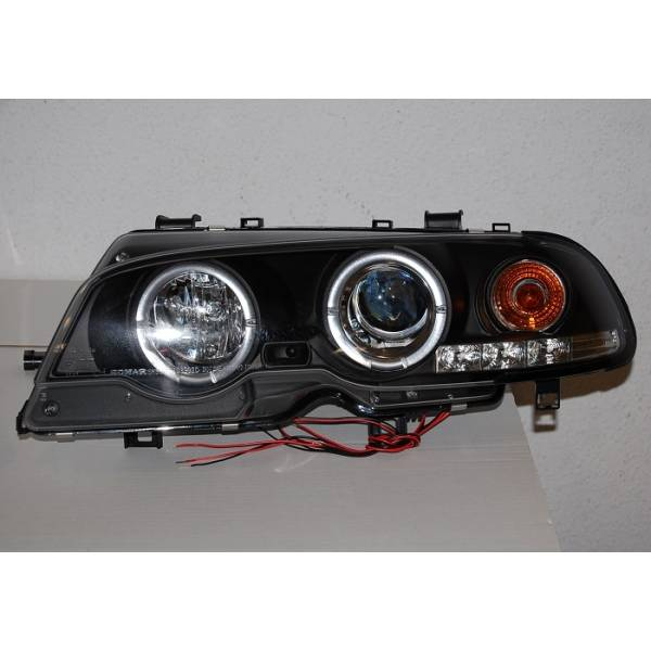 PHARES ANGEL EYES BMW E46 '99 -02 2P. ELECT. BLACK MOD.II