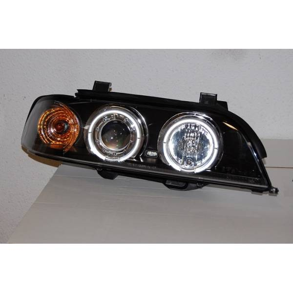 HEADLIGHTS BMW E39 ANGEL EYES BLACK '95 -03