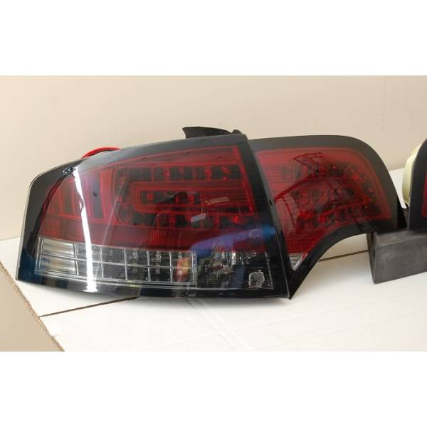 PILOTOS TRASEROS AUDI A4 05-08 4P LED RED SMOKED INTERMITENTE LED
