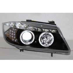 FAROS DELANTEROS LUZ DE DIA BMW E90 05 BLACK INTERMITENTE LED