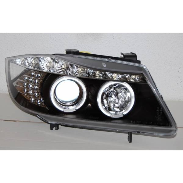 DAYLIGHT SCHEINWERFER BMW E90 05 LED FLASHING SCHWARZ