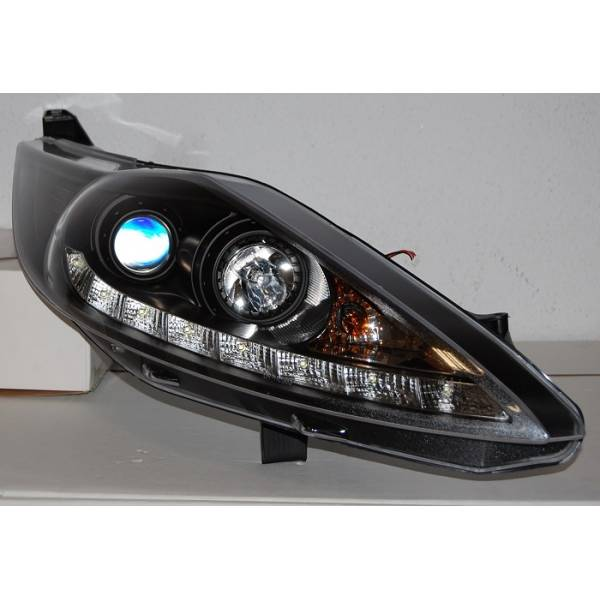 DAYLIGHT HEADLIGHTS FORD FIESTA 2009 BLACK