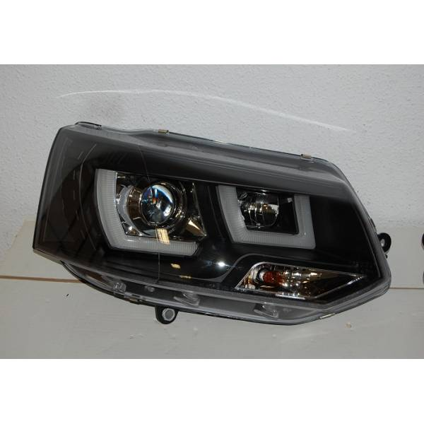 HEADLIGHTS DAY LIGHT 2009 VOLKSWAGEN T5 BLACK