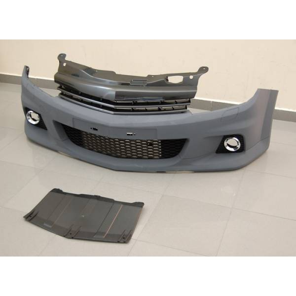 FRONTBUMPER OPEL ASTRA H OPC LOOK 3P GRILL ABS