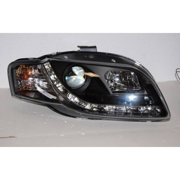DAYLIGHT HEADLIGHTS AUDI A4 BLACK '05 -08