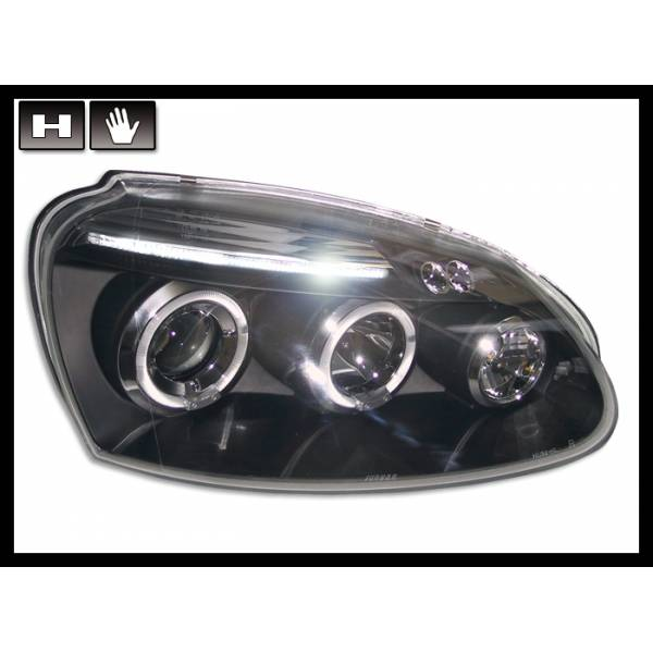 HEADLIGHTS ANGEL EYES BLACK VOLKSWAGEN GOLF MK5