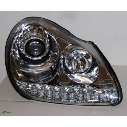 Set Of Headlamps Day Light Porsche Cayenne 03-07