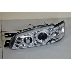 Set Of Headlamps Angel Eyes Subaru Imprezza 1992-2002 Chromed