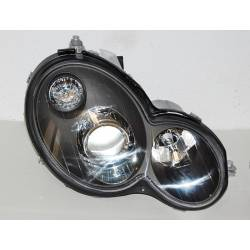 Set Of Headlamps Mercedes C Sport Coupe W203 2001 Black