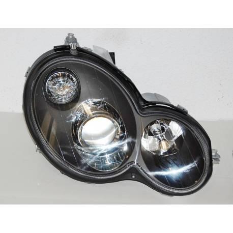 Set Of Headlamps Mercedes C Sport Coupe W203 2001 Black