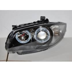 Fanali Anteriori Angel Eyes BMW E87/E81/E88/E82 Black Elec