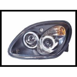 Faros Delanteros Ojos De Angel Mercedes SLK 96 Black
