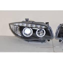 Fari Anteriore A Led BMW E87 07-11 Black, Intermitente Led