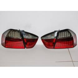 Set Of Rear Tail Lights BMW E90 2005 4-Door Led Red/Smoked