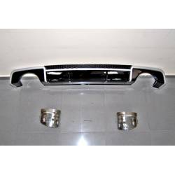 Difusor Trasero Audi A3 V8 4 puertas 2013-2015 Look RS3 ABS