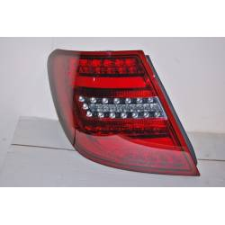 Set Of Rear Tail Lights Cardna Mercedes W204 2007-2012 Lightbar Red Smoked