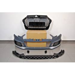 Front Bumper Audi A3 2016+ 4 Doors Look RS3