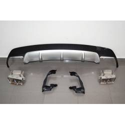 Rear Diffuser Mercedes CLA W117 13-16 Look A45 ABS
