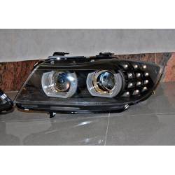 Set Of Headlamps Day Light BMW E90 '09-11 Xenon DRL Black