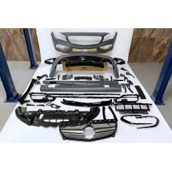 Body Kit Mercedes W117 13-18 4D / SW Facelift Look AMG A45 II Sport grill