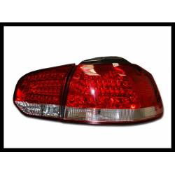 Set Of Rear Tail Lights Volkswagen Golf 6   2009 Led Red