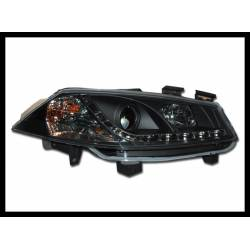 Set Of Headlamps Day Light Renault Megane 2003-2006 Black 1St  Phase