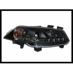 Set Of Headlamps Day Light Renault Megane 2003-2006 Black 1St  Phase