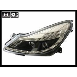 Faros Delanteros Luz De Dia Opel Corsa D 06-10 Black Int Led