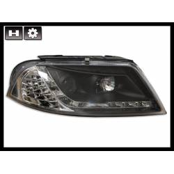Set Of Headlamps Day Light Volkswagen Passat Black