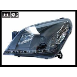 Set Of Headlamps Day Light Opel Astra H Black