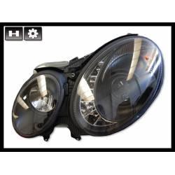 Faros Delanteros Luz De Dia Mercedes W211 02-06 Black H7-H7