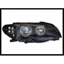 Faros Delanteros BMW E46  2P 2003-2005 Black Intermitente Led