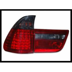 Set Of Rear Tail Lights BMW X5 00-03  Led Red Smoked
