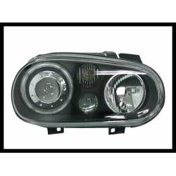 Set Of Headlamps Angel Eyes Volkswagen Golf 4 Black