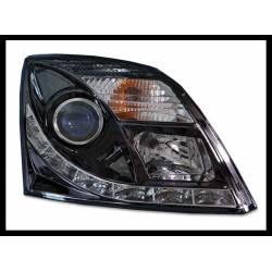 Set Of Headlamps Day Light Opel Vectra C, Black