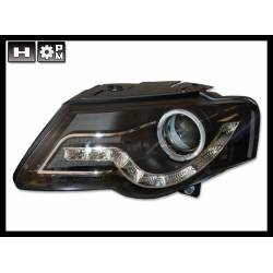 Set Of Headlamps Day Light Volkswagen Passat 2005 Black