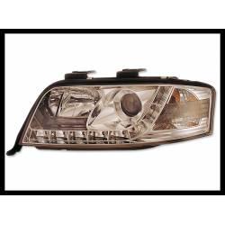 Faros Delanteros Luz De Dia Audi A6 '01-03