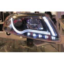 Faros Delanteros Audi A6 Luz Dia Lti 04-07 Black