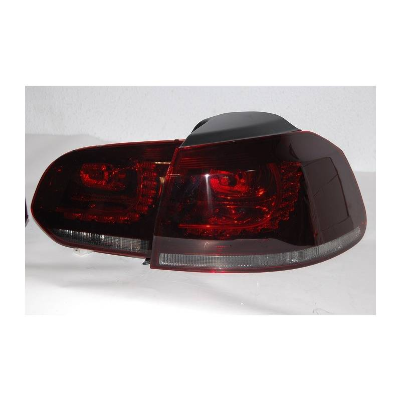 Set Of Rear Tail Lights Volkswagen Golf 6 R32 Led Red/Smoked - Eurolineas  Personales