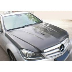 Capó Carbono Mercedes W204 2011-2013 Look C63 Black Series