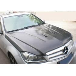 Carbon Fibre Bonnet Mercedes W204 2011-2013 Look C63 Black Series