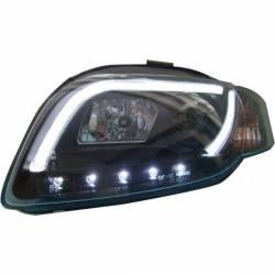 Set Of Headlamps Day Light Audi A4 2005-2008 Lti Black
