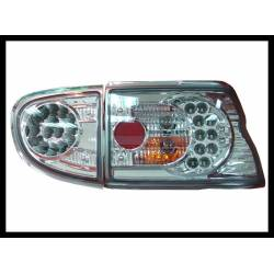 Set Of Rear Tail Lights Ford Escort 1995 Led Chromed