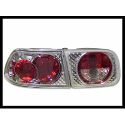 Set Of Rear Tail Lights Honda Civic 1992-1995 4-Door Lexus Chromed