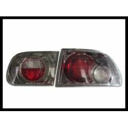 Set Of Rear Tail Lights Honda Civic 1992-1995 3-Door Lexus Black