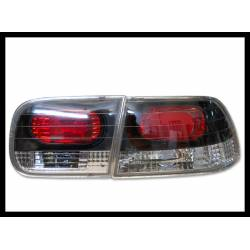 Set Of Rear Tail Lights Honda Civic 1992-1995 2-Door Lexus Black