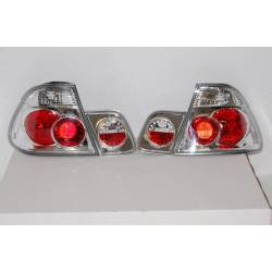Set Of Rear Tail Lights BMW E46 2001-2005 4-Door, Lexus Chromed