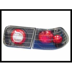 Set Of Rear Tail Lights Honda Civic 1996 2-Door Lexus Black