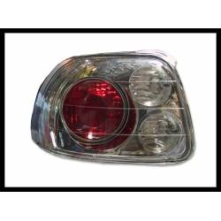Set Of Rear Tail Lights Honda Del Sol 1993 Lexus Chromed
